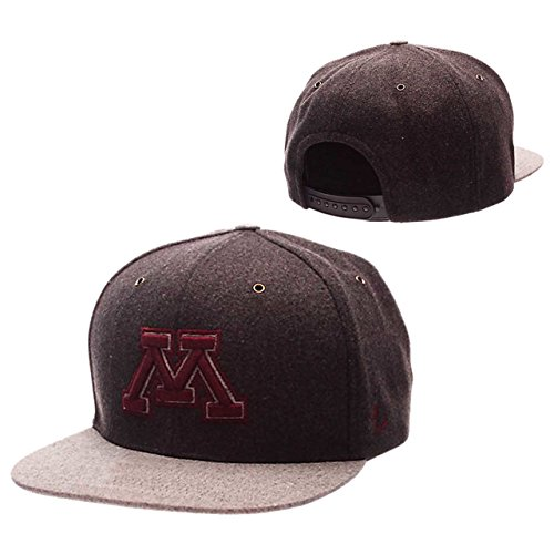 NCAA Minnesota Golden Gophers Adult Men's Executive Snapback Hat, Adjustable Size, Team - Gophers Wool Minnesota Golden