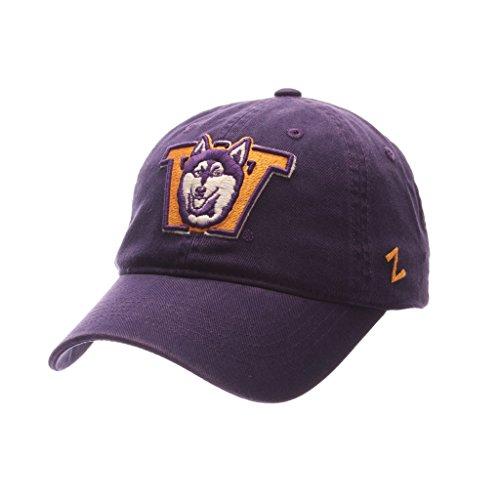 Zephyr Washington Huskies Scholarship Relaxed Fit Dad Cap - NCAA, Adjustable One Size Purple Baseball (Huskies One Fit Cap)