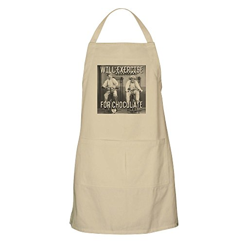 - CafePress Lucy Ethel Exercise for Chocolate Kitchen Apron with Pockets, Grilling Apron, Baking Apron