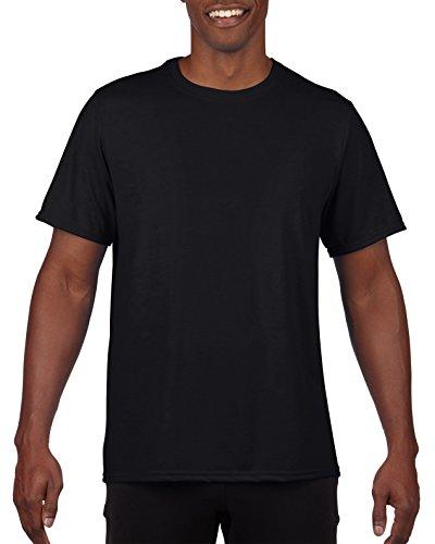 Adult Polyester Moisture - Gildan Men's Performance Adult T-Shirt, 2-Pack, Black, X-Large