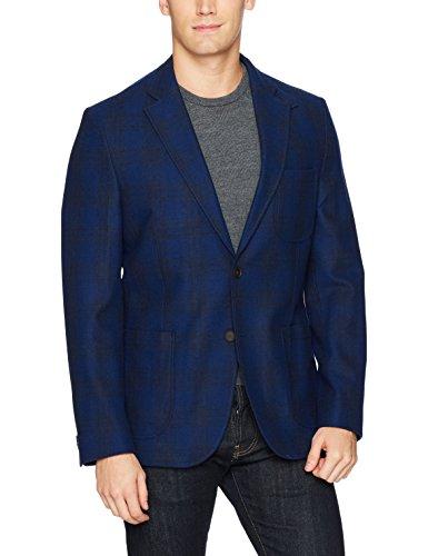 [해외]크룬 남성 화이트 윈도우파인 스포츠코트 블레이저 / Kroon Men`s White Windowpane Sportcoat Blazer