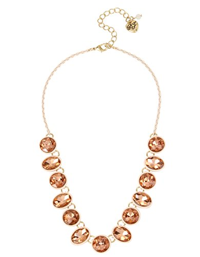 Betsey Johnson Marie Antoinette Faceted Stone Necklace, 15.5