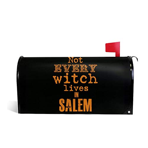 SSERFT Not Every Witch Lives in Salem Welcome Magnetic Mailbox Cover Wraps Standard Size MailWrap for Outside Garden Home Decor 25.5x21 in]()