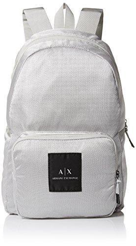 Armani Exchange Men's Mesh Backpack Accessory, -silver, - Com Giorgio Armani