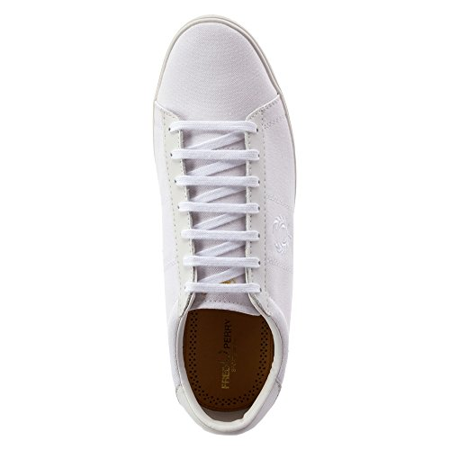 FRED PERRY Spencer tela para hombre, color negro blanco