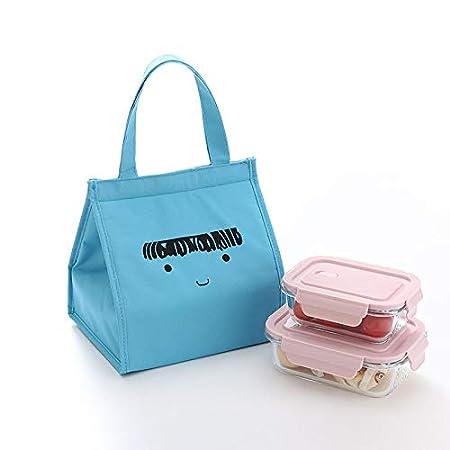 Fablcrew.-Portatile Borsa Termica Borsa Lunch Bag Portatile Thermal Tote Borsa Termica Borsa a Secchiello in Tela ad Isolamento Frigo Pranzo Termico
