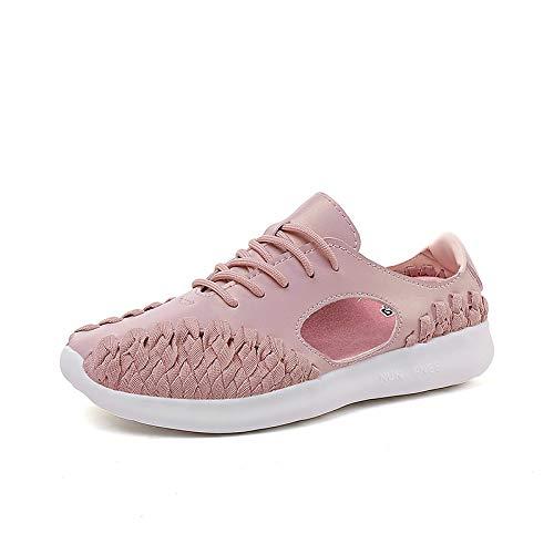 Pu Summer Sneakers De negro Heel Round Shoes Mujer Blanco novedades tul Zhznvx Zapatos Toe Microfibra Sintéticos Walking Rosa Comfort Pink Flat A0qUXxwv