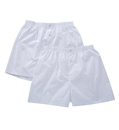 Munsingwear Men's Gripper Woven Boxer - 2 Pack, White, Large