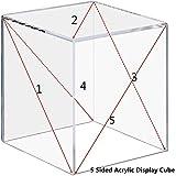 Cliselda Acrylic Display Box, 3x3x3&4x4x4&5x5x5