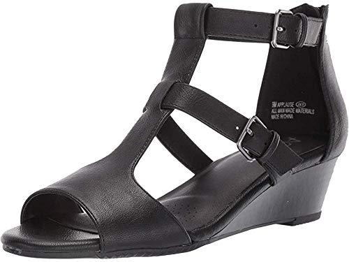 Aerosoles A2 Women's Applause Wedge Sandal Black 8 M US