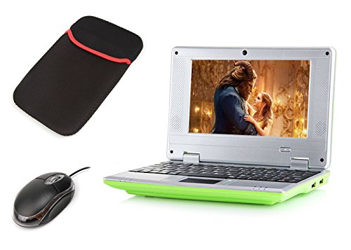 """eForprice 7"""" Mini Notebook Laptop Computer Netbook Android 4.2 System 4GB Storage VIA 8880 Cortex-A9 1.2ghz Wifi Windows Hd Solid Black Mini Laptop 7 Inch Netbook Notebook Computer Tablet Pc, Installed Wifi and Camera, Watch News, Youtube Facebook Twitter, Supports Netflix, Word/excel/power Point, 2 USB Ports, Sd Card Slot, Hdmi Port to Connect with Tv - Green"""