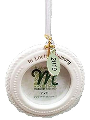 Twisted Anchor Trading Co 2019 Memorial Ornament - in Loving Memory - Memory Frame Ornament, Memorial Christmas Ornament or Miscarriage Ornament - Comes in A Gift Box So Its Ready for Giving