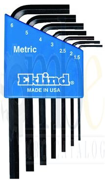 7 Piece - 1.5 - 6mm Long Arm Style- Hex Key Set by Eklind Tool (Image #1)