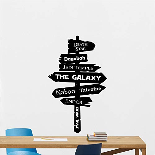 Wall Mural DIY Removable Sticker Decoration Star Wars Wall Decal Galaxy Jedi Road Sign Vinyl Sticker Decor Art Decor Mural Art Decor Home Decor Room Decals ()