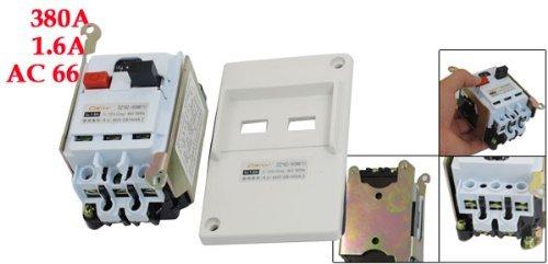 DealMux DZ162-16 AC 660V 3 Pole 1A-1.6A Adjustable Motor Protection Circuit Breaker