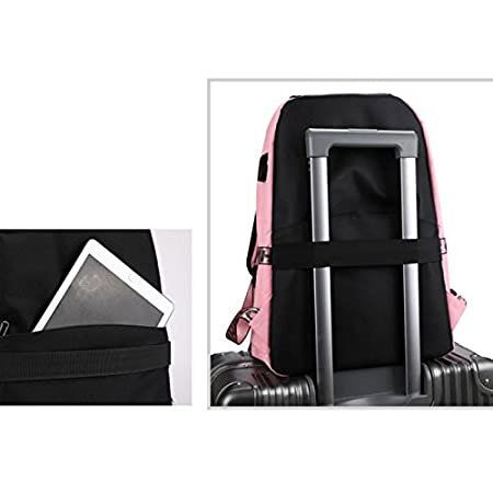 Amazon.com : Jiaqi Laptop Bags, Backpack for Girls, with USB Charging Port College Rucksack Casual Daily Shoulder Bag Lightweight Laptop Backpack(Pink) ...
