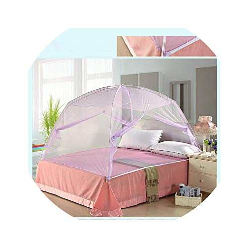 (ACOMY Foldable Automatic Installation Camping Mosquito Nets.Children Magic Mosquito Nets.Insect Reject,Purple,100X200CM )