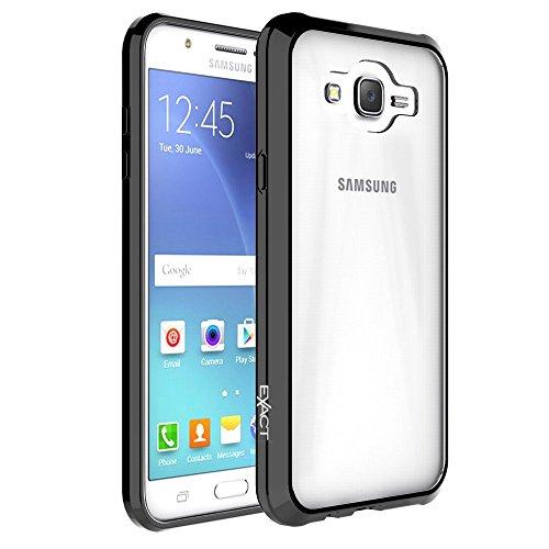 (Galaxy J7 Case, Exact [PRISM Series]-[TPU Grip Bumper][Scratch Resistant] Protective Slim-Fit Transparent Bumper Case for Samsung Galaxy J7 (2015) (BOOST,VIRGIN,T-MOBILE,METRO PCS))