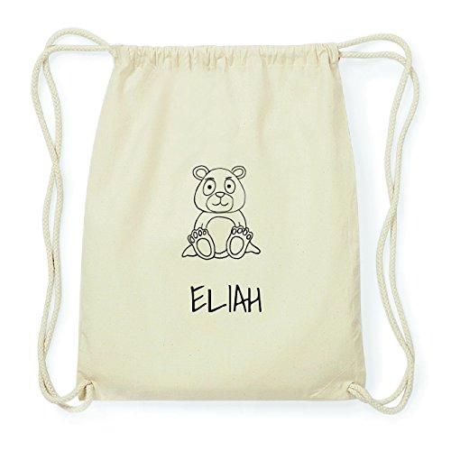 JOllipets ELIAH Hipster Turnbeutel Tasche Rucksack aus Baumwolle Design: Bär 2ZiFF
