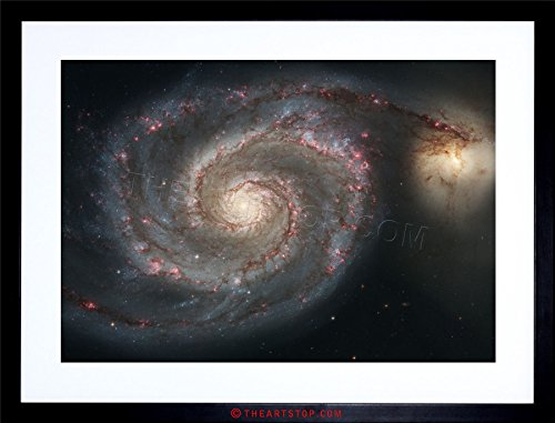 The Art Stop Space Photo Hubble Whirlpool Galaxy M51 Framed Print F12X3680