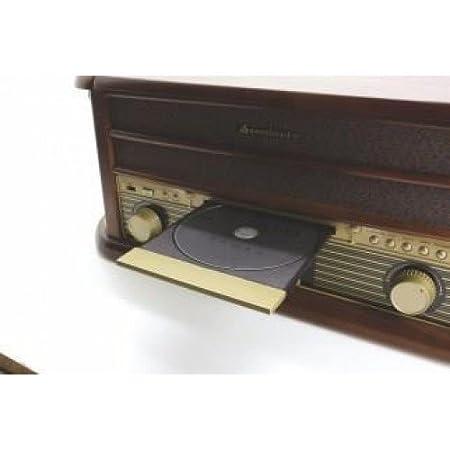 Soundmaster NR513DAB - Tocadiscos con lector de CD, cassette, radio, Aux-in y bluetooth