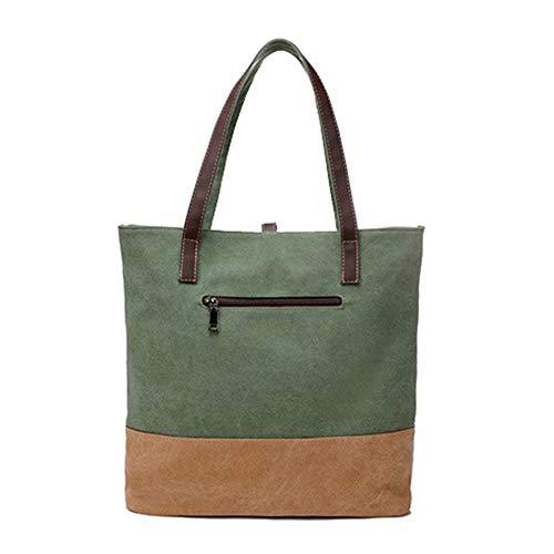 Shopper Gris Tote Bag Mano Mujer Grande Bolso Capacidad Mujer Bolso Verde Bolsos Bolso Bolsos Bolso de Hombro Gran de de RUxPxSC