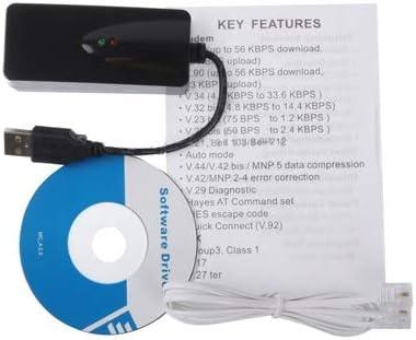 Black JINYANG Superior USB 2.0 56K V.92 V.90 External Dial up Voice Fax Data Modem