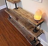 "Custom Made Rustic Upcycled Reclaimed Hardwood Bookshelf & Metal Hdwr 52""x36"" Avg. Size"