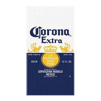 - Corona Extra Beer Label Beach Towel 28 in X 58 in