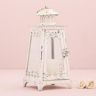 - Wedding Star 4479-08 Metal & Glass Pyramid Lantern - Iron & Glass