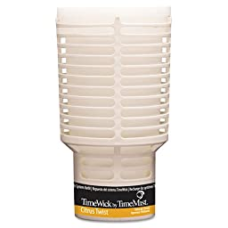 TimeMist TimeWick Dispenser Refill, Citrus Twist - Includes six per case.