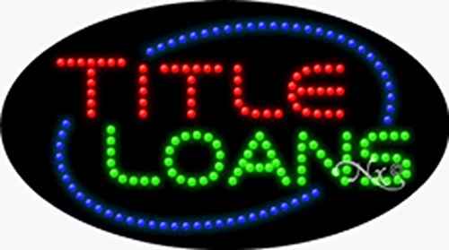 15X27x1 Inches Title Loans Animated Flashing Led Window Sign