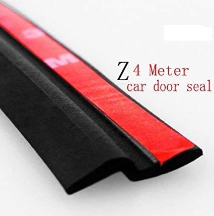 4Meter Z Type Car Door Rubber Seal Sound Insulation , Car Door Sealing  Strip Weatherstrip Edge