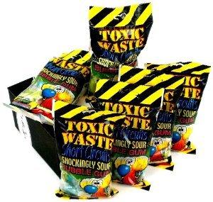 Toxic Waste Short Circuits Sour Bubble Gum, 3.2oz Bag - 12ct Box