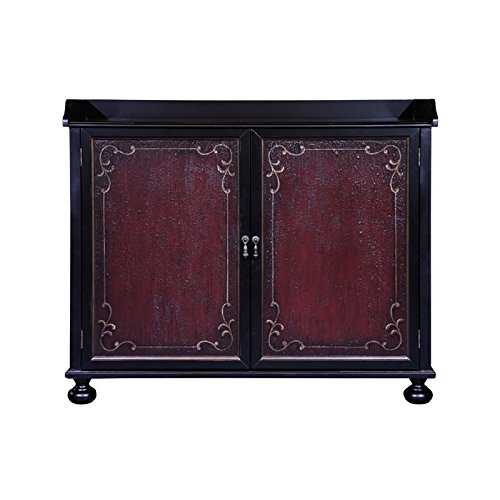 (Pulaski P020000 Two Tone Hand Painted Wine Storage Bar Cabinet)