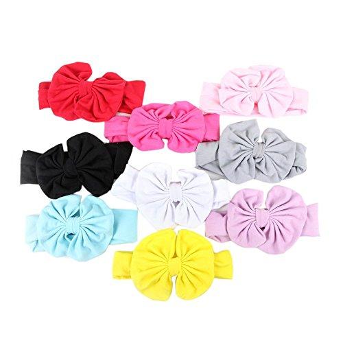 ziyier Cute banda elástica de Baby Girl Diademas con lazo de pelo suave cómodo Piel Friendly Varios colores Cute para...