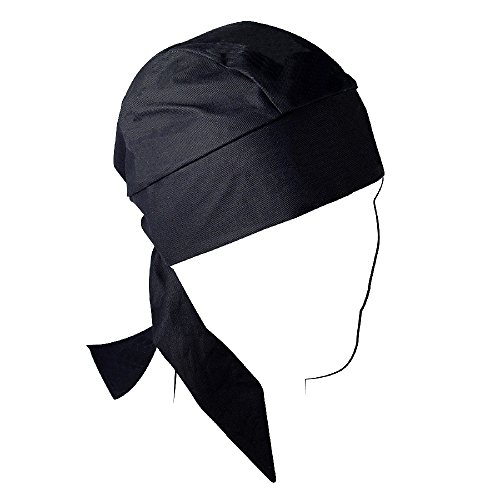ZANheadgear Black Cotton Deluxe Head Wrap Flydanna