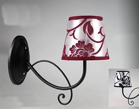 Lampada a muro applique da parete in metallo decorato nero con