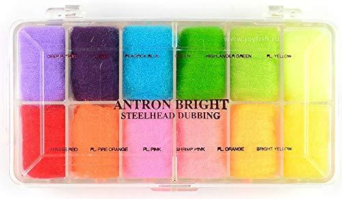 (Wapsi Fly Tying Dubbing Dispenser, Antron Bright Dubbing #3)