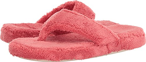 Acorn Women's Spa Thong Slippers Lobster Red M