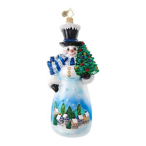 Christopher Radko Starry Skies Snowman Christmas Ornament