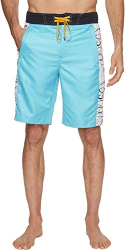 Robert Graham Men's Maili Woven Swim Aqua 44 by Robert Graham