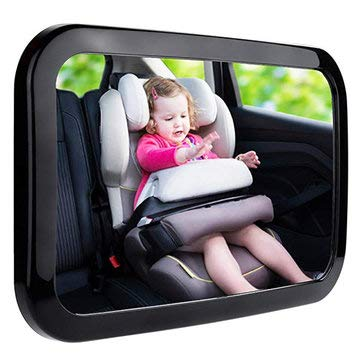 360° Rotatable Car Safety Reverse Baby Back Seat Rear View Mirror Headrest Square Baby Monitor - Interior Accessories Interior Mirrors