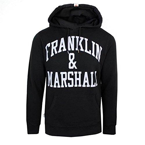 Franklin & Marshall FLMVA089XMW16, Sudadera para Hombre, Negro (Black) X-Large