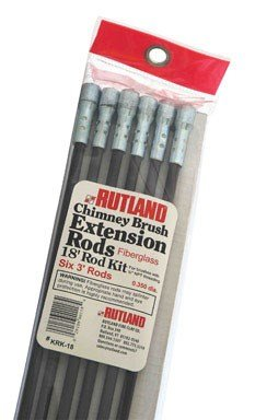 Rutland KRK-18 Fiberglass Chimney Brush Rod Kit