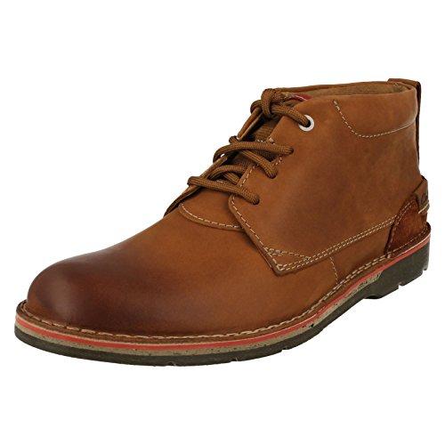 Clarks Edgewick Mid, Cargadores Clásicos para Hombre Marrón (Tan Leather)