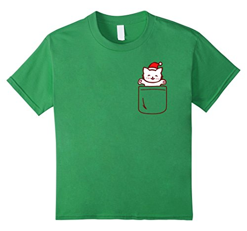 Cat In The Hat Outfit Ideas (Kids Cat In Your Front Pocket T-Shirt Cute Christmas Costume Gift 4 Grass)