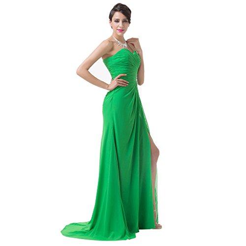 Vimans -  Vestito  - linea ad a - Donna verde 46
