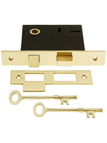 House of Antique Hardware R-01DE-101-UL Mortise Lock with Solid Brass Faceplate - 2 1/4