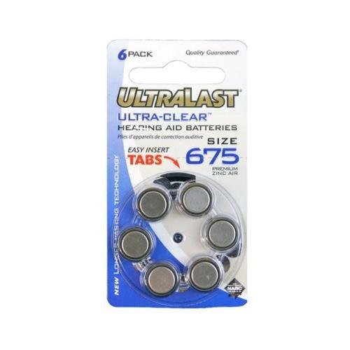 - Dantona BATT-UL675HA Hearing Aid Battery 6 Pack